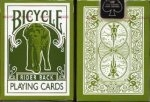 Bicycle Green Elephant Rider Back Playing Cards
