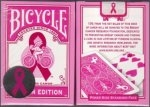 Bicycle Pink Breast Cancer Ribbon Playing Cards