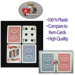 Modiano 100% Plastic Poker-Size Standard-Index Classic Motorcycle Playing Cards (2 Decks)