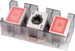 Nine Deck Clear Revolving Card Tray