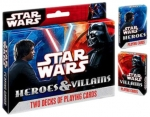 Star Wars Heroes and Villians Playing Cards (2 Decks)