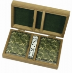 Whitetail Deer Playing Cards in Wood Box