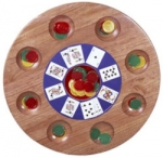Wooden Michigan Rummy Game Set
