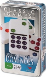 Cardinal Double Nine Color Dot Dominoes Tin
