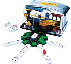 Mexican Train Dominoes Game Tin