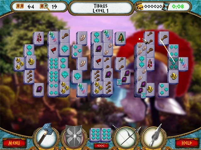 7 Hills of Rome Mahjong Screenshot