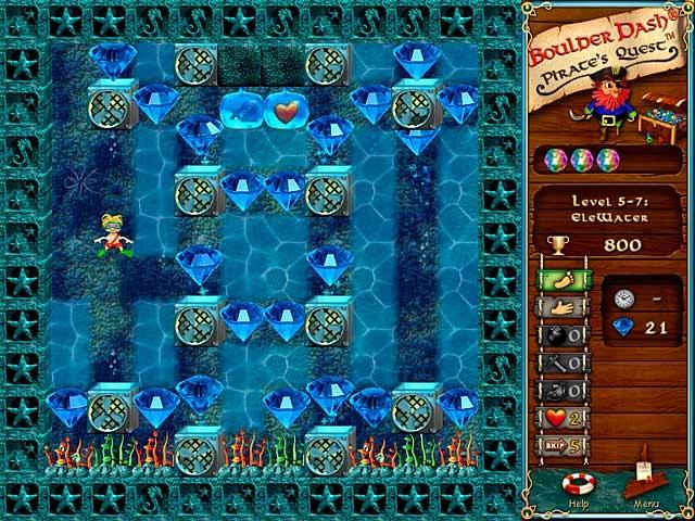 Boulder Dash-Pirate's Quest Screenshot