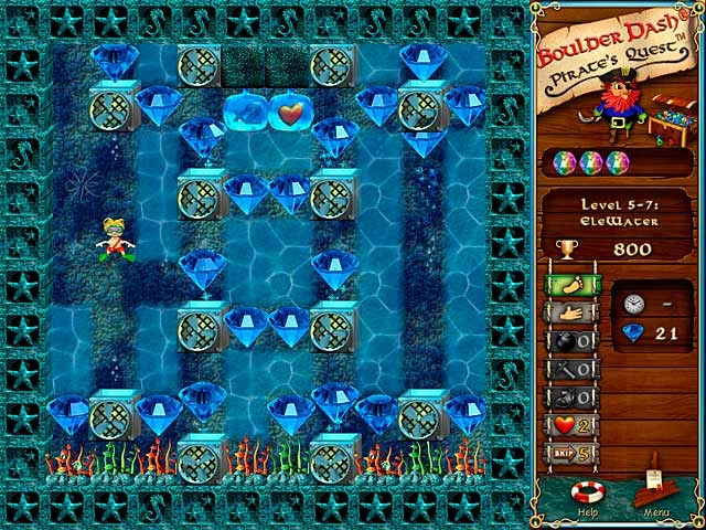 Boulder Dash: Pirate's Quest Screenshot
