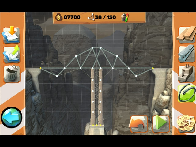 BRIDGE CONSTRUCTOR: Playground Screenshot