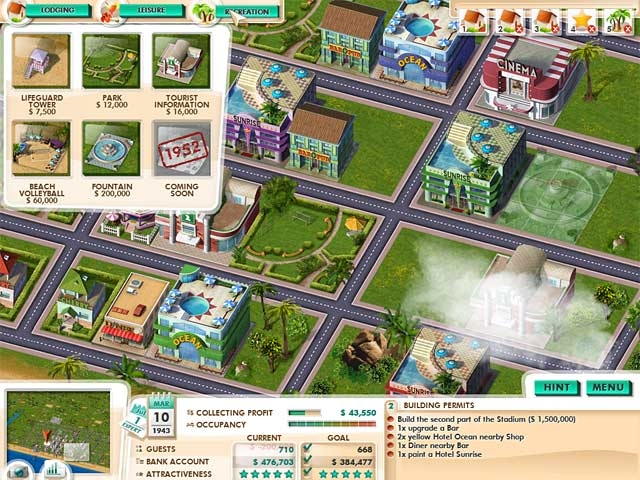 Build It! Miami Beach Resort Screenshot