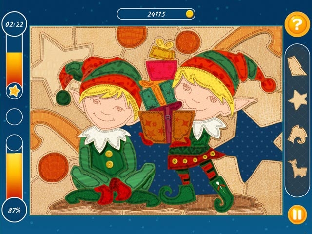 Christmas Mosaic Puzzle Screenshot