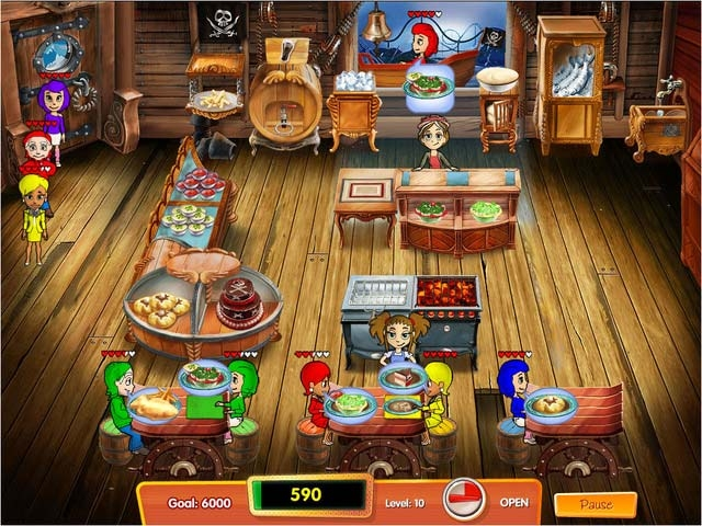 Cooking Dash 3: Thrills and Spills Screenshot