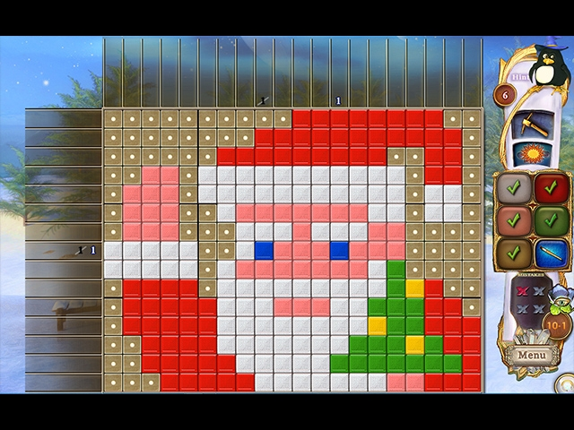 Fantasy Mosaics 32: Santa's Hut Screenshot