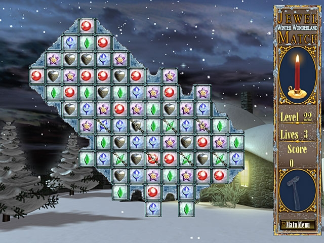 Jewel Match - Winter Wonderland Screenshot