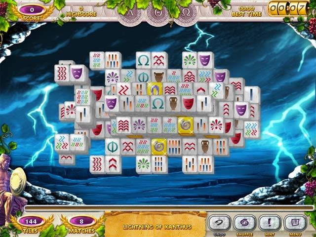 Mahjong Mysteries: Ancient Athena Screenshot