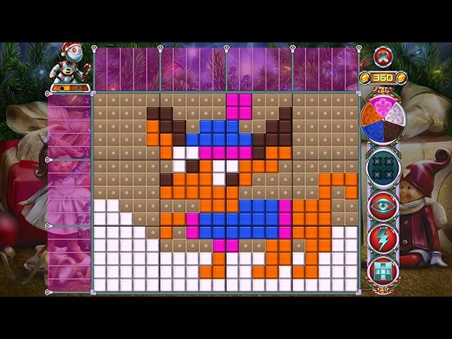 Rainbow Mosaics 10: Christmas Helper Screenshot