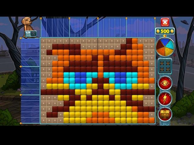 Rainbow Mosaics: Strange Thing Screenshot