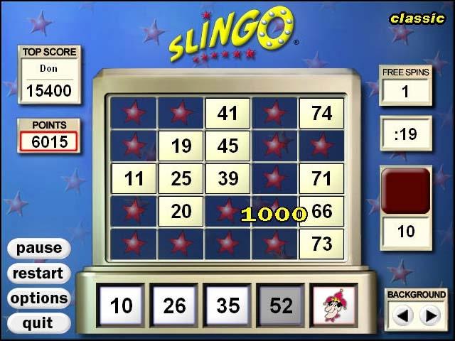 Slingo Deluxe Screenshot