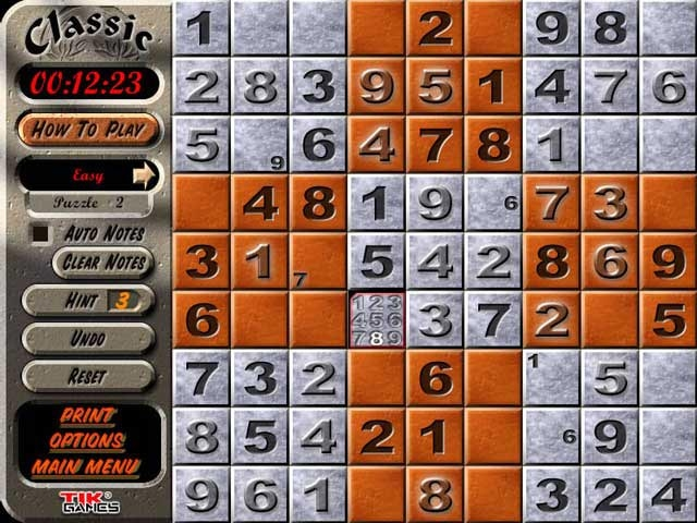 Sudoku Latin Squares Screenshot