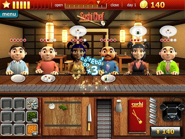 Youda Sushi Chef Screenshot